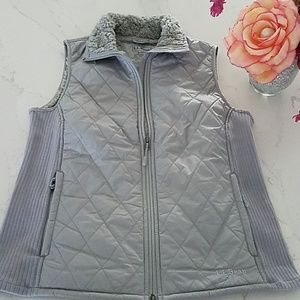 NWOT, L L Bean Quilted Vest in Quarry gray